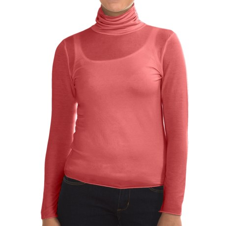 Stretch TENCEL® Turtleneck - Long Sleeve (For Women)