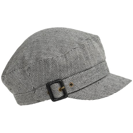 Dorfman Pacific Herringbone Cadet Cap (For Women)