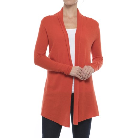 In Cashmere Drape Front Cashmere Duster (For Women)