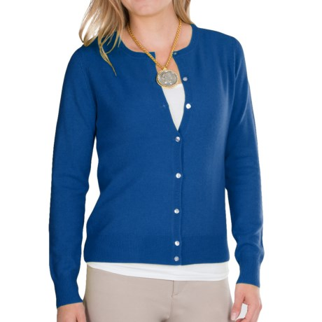 In Cashmere Pointelle Cardigan Sweater (For Women)