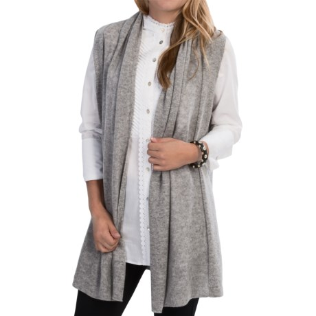 In Cashmere Open Front Cashmere Vest (For Women)
