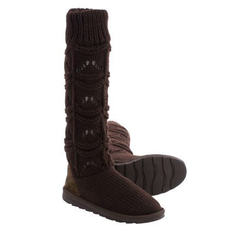 Muk Luks Jamie Short Knit Boots (For Women)