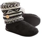 Muk Luk Legwarmer Scrunch Slipper Boots - Fleece Lining (For Women)