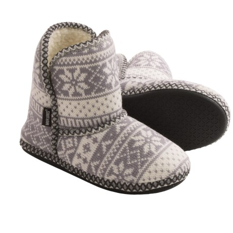 Muk Luks Knit Slipper Short Boots (For Women)