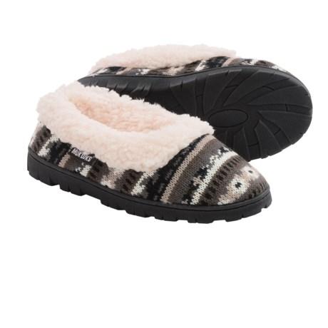 Muk Luks Sweater Slippers - Plush Lined (For Women)