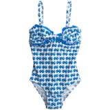 Drama Queen Ruffled Print One-Piece Swimsuit - UPF 50+  (For Little and Big Girls)