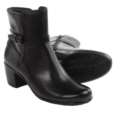 ECCO Touch 55 Leather Ankle Boots (For Women)