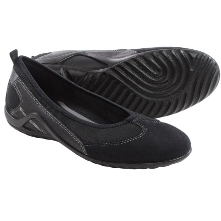 ECCO Vibration II Skimmer Shoes - Leather, Slip-Ons (For Women) in Black - Closeouts