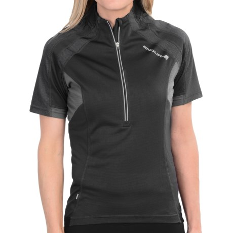 Endura Hummvee Cycling Jersey - Zip Neck, Short Sleeve (For Women)