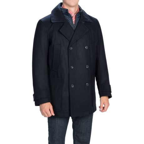 Marc New York by Andrew Marc Mulberry Coat - Melton Wool Blend, Insulated (For Men)
