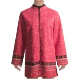 Orvis Long Jacket Cotton Print/Solid Reversible (For Women)