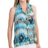 Hi-Lo Rayon Shirt - Sleeveless (For Women)