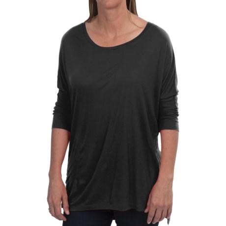 Rayon Crew Neck Shirt - 3/4 Sleeve (For Women)