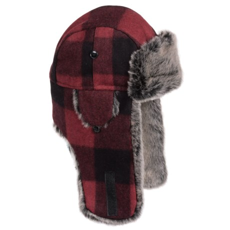 Weatherproof Retro Plaid Aviator Hat - Wool Blend, Insulated, Ear Flaps (For Men and Women)