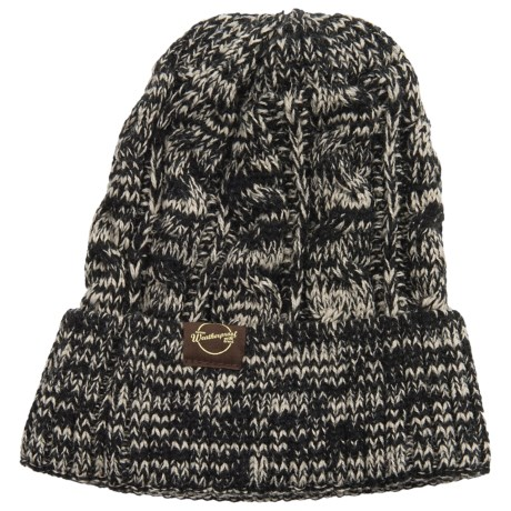 Weatherproof Chunky Cable Tweed Beanie (For Men and Women)