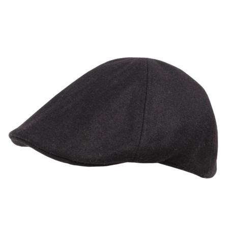 Weatherproof Solid Driving Cap - Wool Blend (For Men)