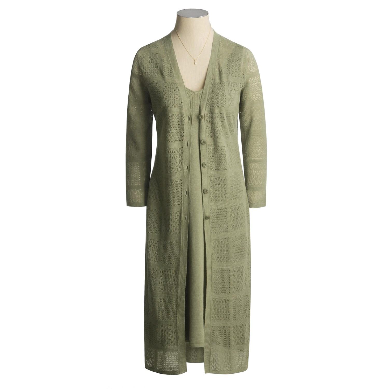 Duster Jacket Knitting Pattern : Semplice Linen Knit Duster Jacket (For Women) 93805 - Save 83%