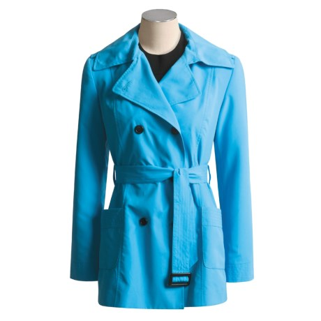 Jheri Richards Sueded Polyester Raincoat - Short (For Women)