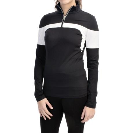 Bogner Glow Shirt - Zip Neck, Long Sleeve (For Women)