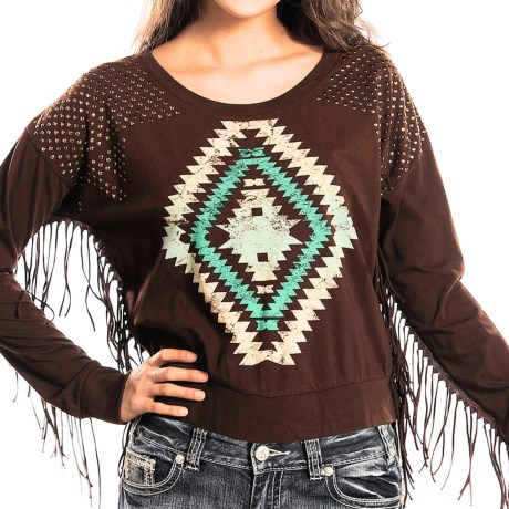 Rock & Roll Cowgirl Fringed Sweater (For Women)