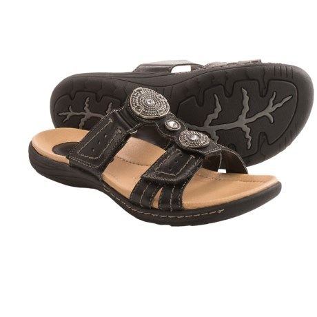 Earth Papaya Leather Sandals (For Women)