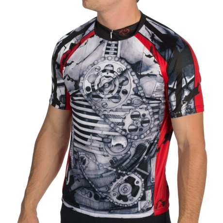 Primal Wear Crankin' Stein Cycling Jersey - Zip Neck, Short Sleeve (For Men)