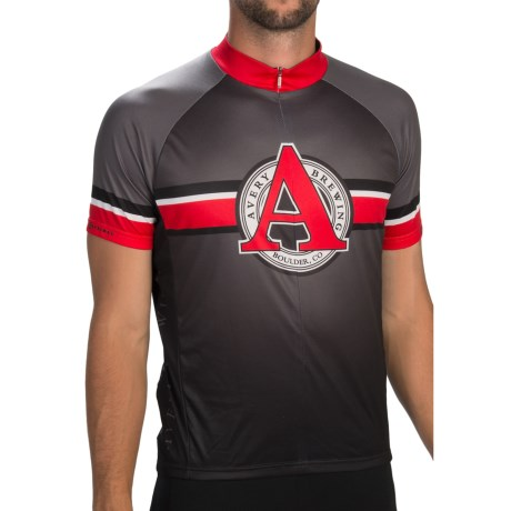 Primal Wear Avery Brewing Cycling Jersey - Zip Neck, Short Sleeve (For Men)