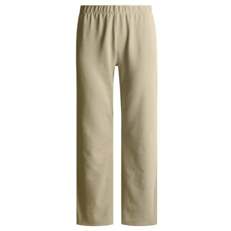 Joan Vass Cotton Bootleg Pants (For Women)