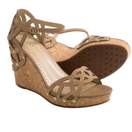 Adrienne Vittadini Chavi Sandals - Leather, Wedge Heel (For Women)