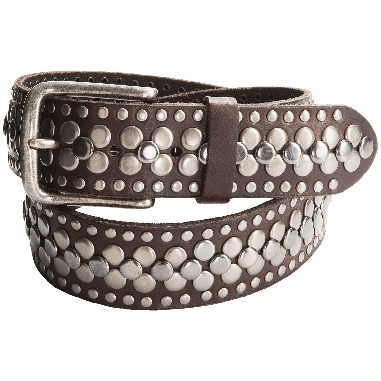 bill adler heavy studded leather belt for 9407u