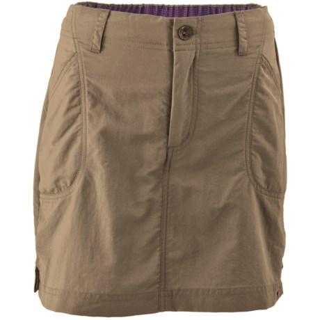 White Sierra Canyon Skort - UPF 30, Built-in Shorts (For Little and Big Girls)