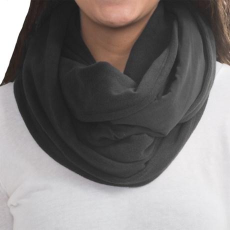 Cuddl Duds Fleece-Jersey Infinity Scarf - Reversible (For Women)