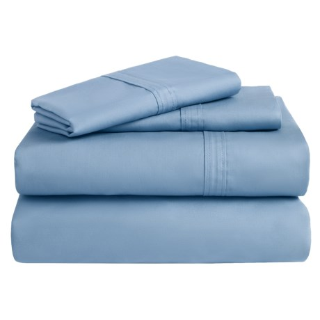 Azores Home Cotton Percale Sheet Set - King, 300 TC
