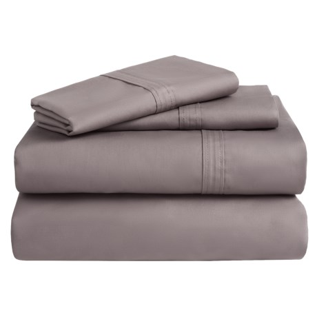 Azores Home 300 TC Cotton Percale Sheet Set - Queen, Deep Pocket