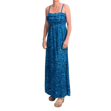 Nomadic Traders Ruffle Batik Maxi Dress - Removable Straps (For Women)