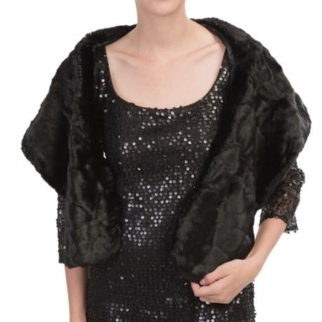 Betmar Faux-Fur Stole (For Women)