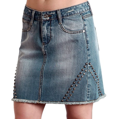 Stetson Studded Denim Skirt (For Women)