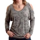 Stetson Cold Shoulder Shirt - Long Dolman Sleeve (For Women)