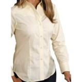 Roper Poplin Western Shirt - Button Front, Long Sleeve (For Women)