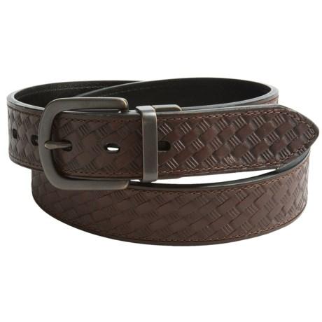 Reward Basket-Weave Leather Belt (For Men)