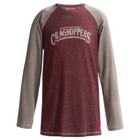 Craghoppers NosiLife Shamri T-Shirt - UPF 40+, Long Sleeve (For Little and Big Boys)