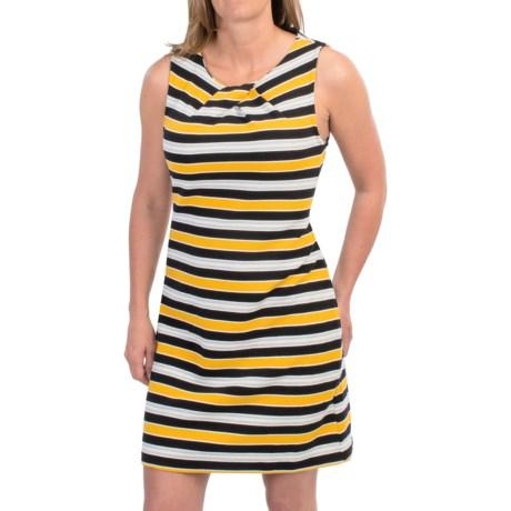 Pleated Neck Dress - Sleeveless (For Women)