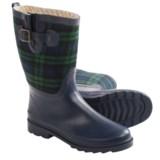 Chooka Euro Plaid Mid Rain Boots - Waterproof (For Women)