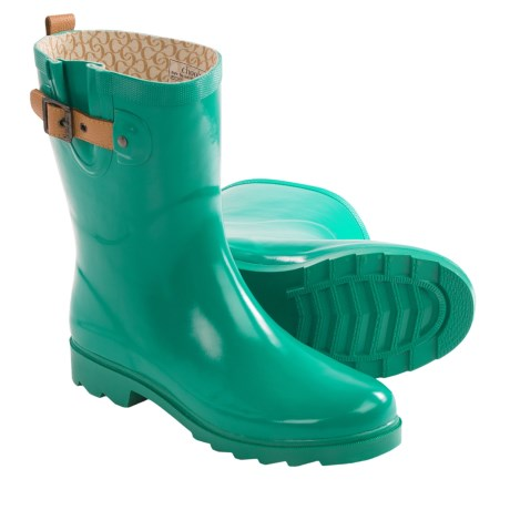Chooka Top Solid Mid Rain Boots - Waterproof (For Women)