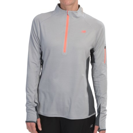 New Balance Ultra Shirt - Zip Neck (For Women)