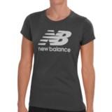 New Balance Large Logo T-Shirt - Short Sleeve (For Women)