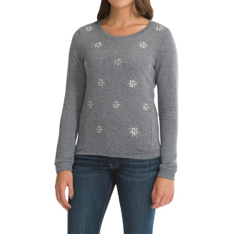 French Terry Embellished Sweater (For Women)