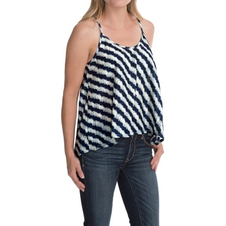 High-Low Envelope-Back Tank Top (For Women)