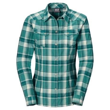 Jack Wolfskin Seal River Shirt - Flannel, Long Sleeve (For Women)