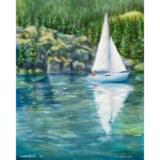 Lake Sailing by Ron Richardson